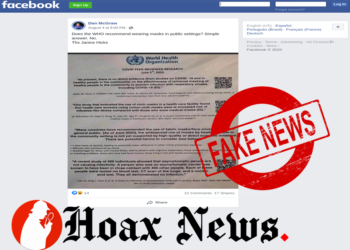 Anti mask protest, Fake WHO guidelines document shared