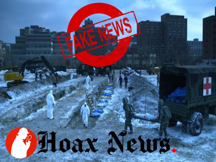Mass burial falsely shown